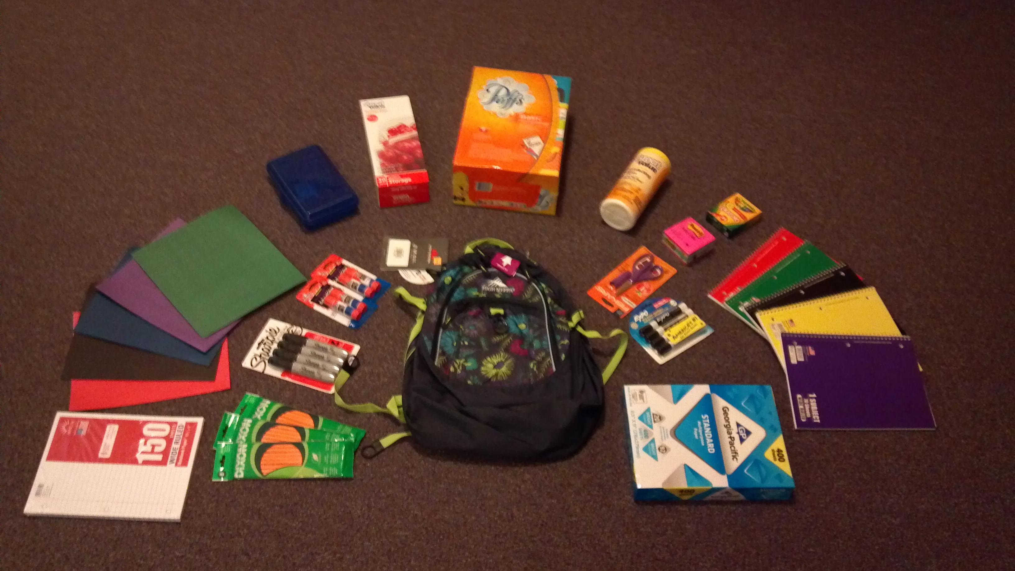 Backpacks for Samuelson